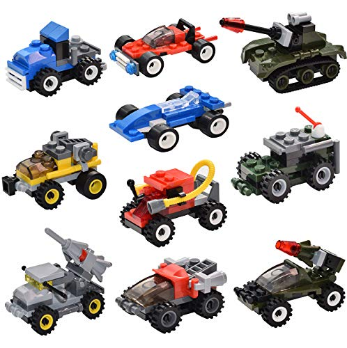 Sawaruita Mini Military Vehicles For Goodie Bags Kids Prizes Boys Birthday Gift Race Car Building Brick Sets Compatible With All Major Brands 10 Pack