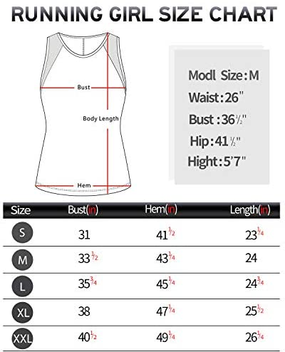 RUNNING GIRL Workout Shirts for Women Sexy Open Back Tank Tops Activewear Yoga Shirts Quick Dry Running Tops