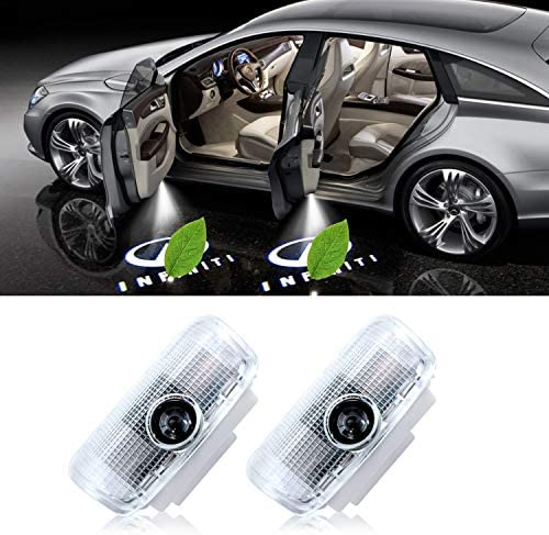Eogifee The Replacement of Infiniti Logo Car Door Lights LED Ghost Shadow Light Projector for Infiniti Accessories Q50 Q70 Q60 QX50 QX70 QX80 FX G M EX Series Compatible (2PACK)