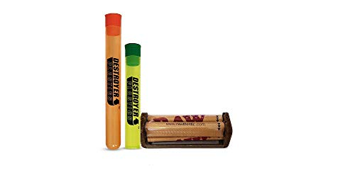 100% Authentic Raw Rollers Bundled with Two Exclusive Destroyer Plastics Doob Tubes One Large One Small (70mm Raw Original, 1)