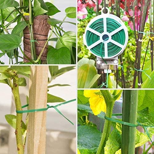 VIVOSUN 328 Feet Twist Tie Roll Spool Dispenser w/Cutter Secure Garden Plant Multi-Function Cable Snack Tie