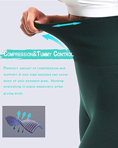 RUNNING GIRL Women's High Waist Seamless Yoga Pants Tummy Control Workout Compression Slimming Gym Leggings