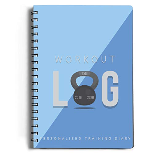 "Workout Log Gym - XL 5"" x 8""/A5 Sized Training and Gym Diary - Set Your Fitness Goals, Track 100 Workouts and Record Your Progress in Clear Detail"