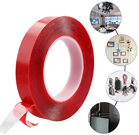 33FT Nano Double Sided Tape,No Trace Clear Double Sided Mounting Tape, Washable Strong Gel Anti-Slip Tape Wall Tape Poster Tape for Paste Photos Carpet Mats Home Office Wall Decoration (10m)