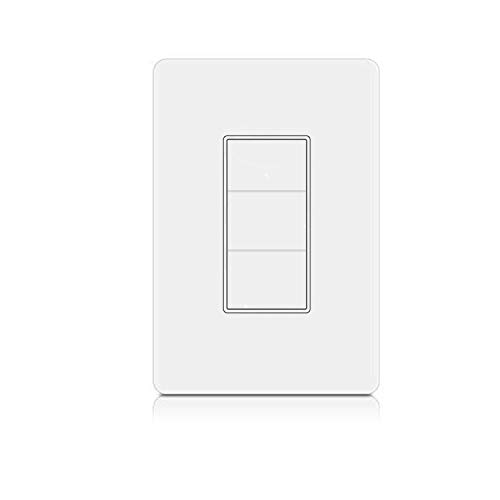 WiFi Smart Wall Touch Light Switch Glass Panel Smart Life APP Provides Control from Anywhere Compatible with Alexa Google home, No Hub Required (3 Switches in 1 Gang)