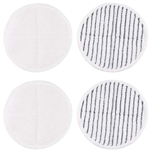 4 Packs Heavy Scrub Mop Pads Replacement for Bissell Spinwave 2039A 2124 Powered Hard Floor Mop