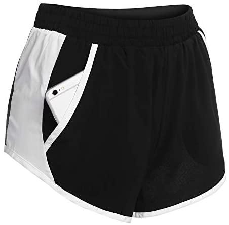 Women Athletic Shorts with Pocket Active Running Shorts Workout Shorts