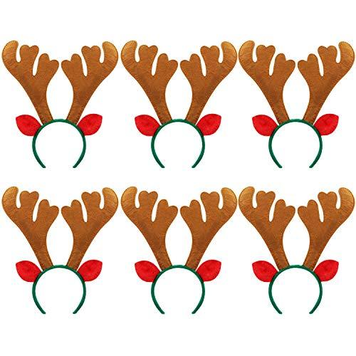 Reindeer Headband, Bageek 6PCS Reindeer Antlers Headband Christmas Headband Cute Antler Design Creative Decorative Costume Hair Hoop