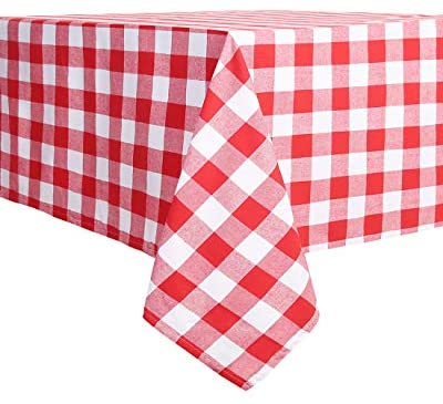 Souactimuy Flannel Tablecloth Rectangular - 60 x 120 Inch - Buffalo Check Washable 100% Cotton - Great for Buffet Table, Parties, Holiday Dinner