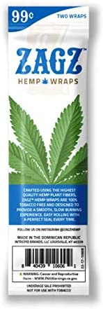 ZAGZ  Flavored Hemp Wraps, 50 Count, Blazin' Blue