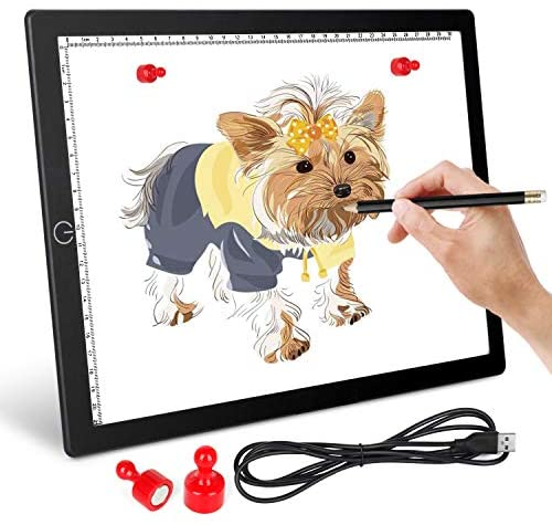 A4 LED Light Pad Light Board for Diamond Painting - Ultra-Thin Magnetic Tracing Light Box with USB Powered for Artists Drawing Weeding Vinyl DIY Diamond Painting Sketching Tattoo Animation Designing