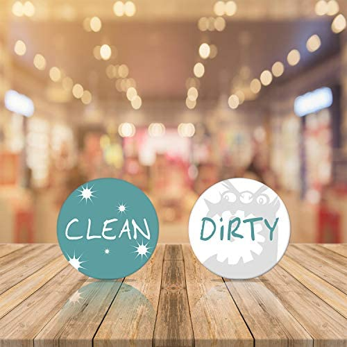 VatCat Dishwasher Clean Dirty Magnet Sign for Stainless Steel, Waterproof Double Sided Flip Dishwasher Magnet Reversible Indicator
