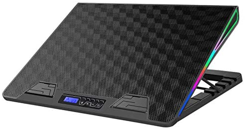 AICHESON RGB Laptop Cooling Cooler Pad for 17-20 Inch Notebook 1 Fan Heavy Coolers Pads, 2 USB Ports, AA2
