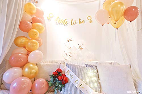 ZZIIEE Gold Pink Bachelorette Party Decorations Package-Bridal Shower Supplies | Bride to Be Sash, 35 Pcs Gold Pink Balloons & Confetti Balloons, Bride to Be Gold Glitter Banner with Diamond Ring etc.