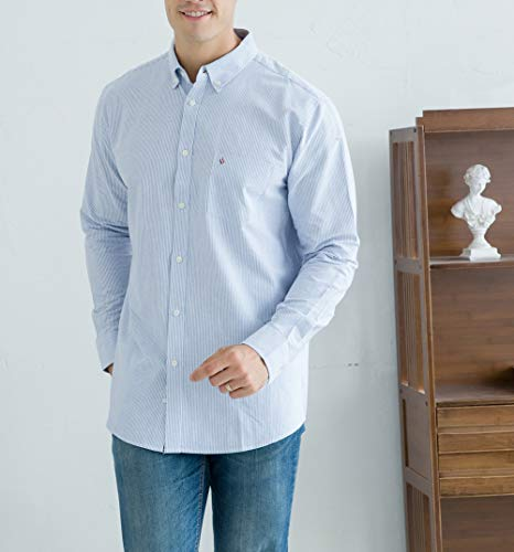 Oxford Shirts for Men Long Sleeve Regular Fit Mens Button Down Shirts Business Casual Mens Shirts
