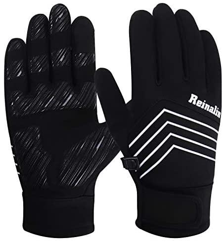 Reinalin Winter Gloves Waterproof Gloves Cycling Gloves Bike Gloves Biking Gloves Driving Gloves Riding Gloves Running Gloves Touchscreen Gloves Bicycle Gloves Hiking Gloves for Men Women