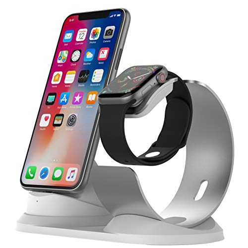 sincetop Compatible with Apple Watch Charging Stand, Aluminum Stand for iPhone and Apple Watch Charging Station for Apple Products Compatible with Apple Watch Series 5/4/3/2/1 Nightstand Mode