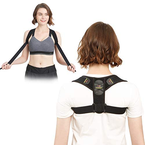 Pampfort Posture Corrector for Men and Women, Unique Armpit Comfort and Wider Adjustable Range Design, Long Wearing Without a Tightly Feeling, Under Clothes Posture Brace for Pain Relief (Large)