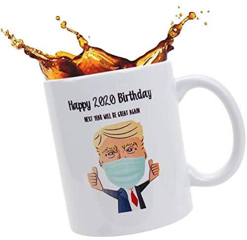 Funny Best Friend Birthday Gifts - Trump Coffee Mugs, Novelty Birthday Gag Gifts for Adults from Wife, Daughter, Son, Next Year Will Be Great Again, 11 oz.