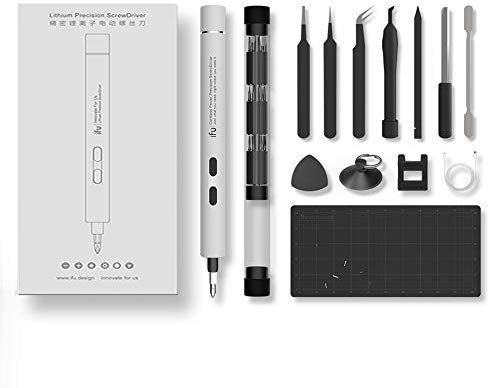 IFU 22 in 1 Mini Cordless Electric Screwdriver Set, Repair tool for iPhone, Huawei Phone, Digital Watch, Laptop, Drone, eyeglasses Tighten And Loosen Screws(white)