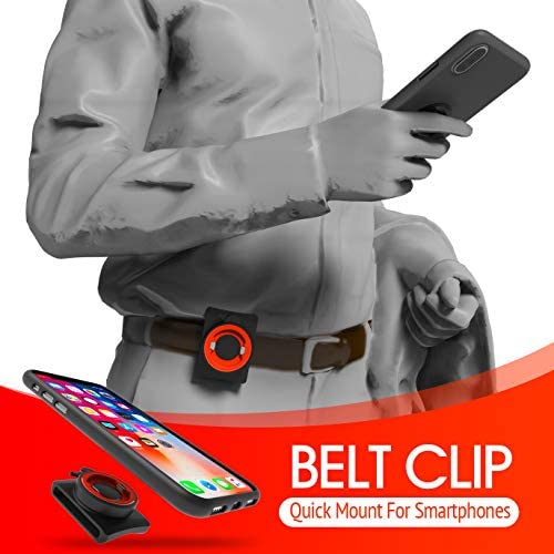 Phone Belt Clips with Quick Mount Universal Phone Belt Holder Quick On/Off for iPhone 11/11 Pro/11 Pro Max/X/XS/XS Max/XR, Samsung Galaxy Note 8, S8 S7 S6 Edge,Cell Phones,Cases,and More