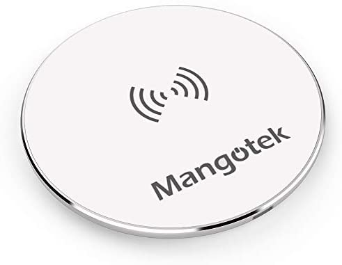 Mangotek Wireless Charger, Wireless Charging Pad, Compatible iPhone 11, 11 Pro, 11 Pro Max, Xs Max, XR, XS, X, 8, 8 Plus, 10W Fast-Charging Galaxy S20/S20+/S10/S9/S8, Note 10 Note 9 Note 8