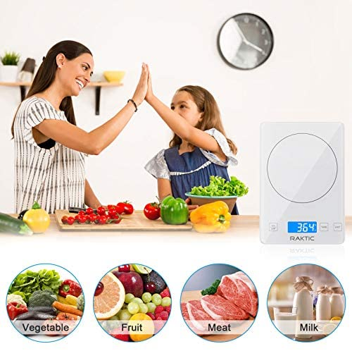 Digital Kitchen Scale for Baking, Cooking and Coffee, 1g/0.1oz Precise Graduation, Tempered Glass Platform, Tare Function