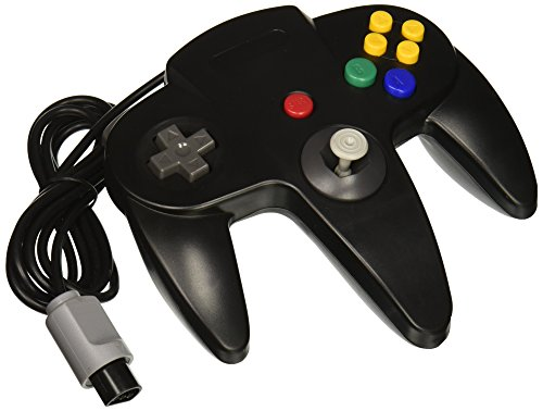 Nintendo 64 Wired Controller Gamepad Joystick Joypad for N64 Console - Black