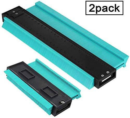 Contour Gauge Duplicator Profile Gauge, Multi-functional Edge Shaping Measure Ruler for Tiling Laminate Woodworking Practical Tool