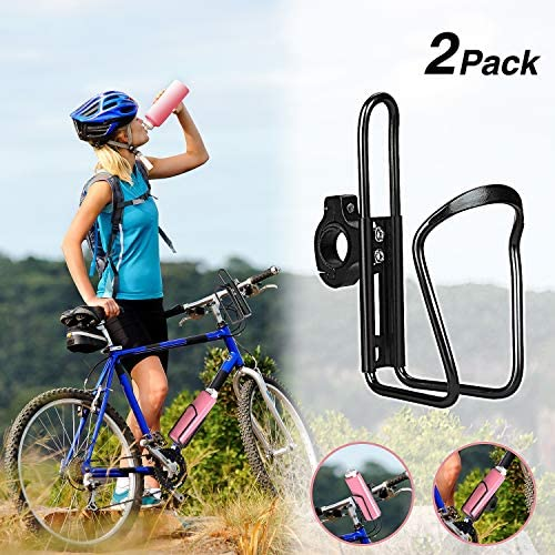 Yofidra Bike Water Bottle Holder - 2 Pack Lightweight & Adjustable Aluminum Alloy Water Bottle Cages for Outdoor Activities