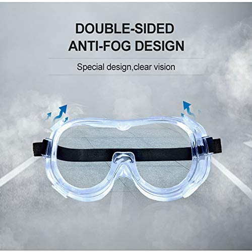 4WDKING Safety Goggles with universal fit, Safety Glasses with Clear, Fog-Free, Anti Scratch and UV Protection Coated Lenses, Spectacles for Eye Protection