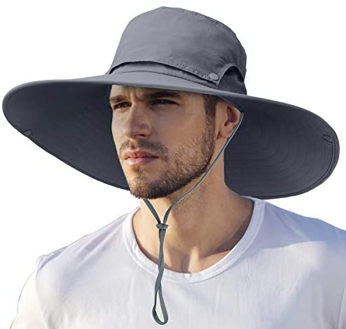 Sun Bucket Hat, Wide Brim Sun Protection Fishing Hat for Men & Women Outdoor Hiking