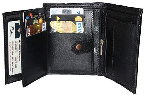 RFID Blocking Mens Wallet - Ultra Soft (Handmade & Sheep Leather) Top Quality Genuine Leather Bifold Wallets for Men