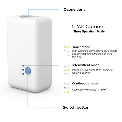 Beutii Professional CPAP Cleaner Ozone Disinfection Compatible with CPAP Mask,Hose Attach 4 Hose Adapters