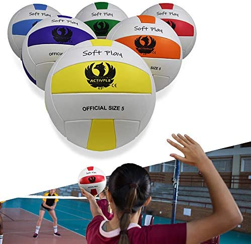 "Volleyball Set, Lightweight, Sting Free Soft EVA Ball Safe and Fun for Kids and Adults in Playground, Beach, and Indoor, 8.5"", Size 5"