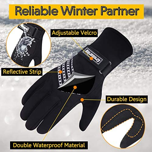 Grebarley Winter Gloves Waterproof Gloves Cycling Gloves Bike Gloves Biking Gloves Driving Gloves Riding Gloves Touchscreen Gloves Snow Gloves Ski Gloves Bicycle Gloves for Men Women