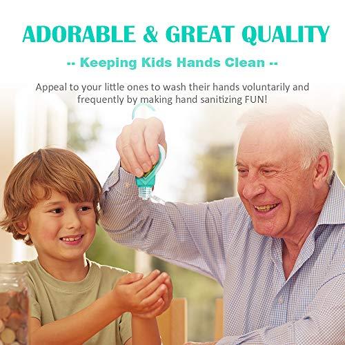 SENSIVO Hand Sanitizer Holder Keychain Empty Travel Size Hand Sanitizer Keychain For Backpack Small Hand Sanitizer Bottles For Kids Portable Refillable Hand Sanitizer Keychain Holder Case