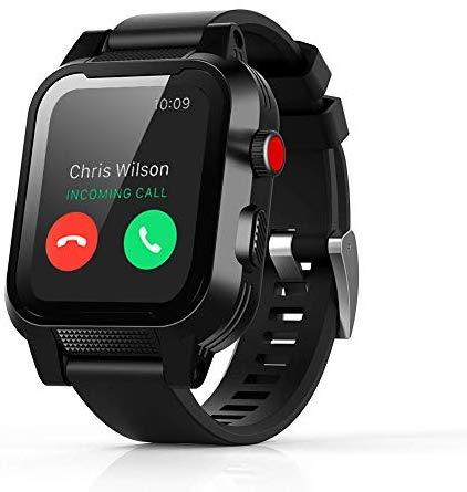 Waterproof Case for Apple Watch Generations 3&2,IP68 Waterproof Dust-Proof Shockproof Case with Watchband for 42mm Apple Watch Black