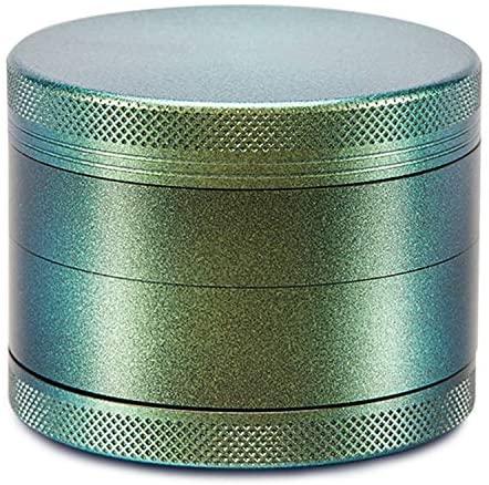 YiMeng Herb Grinder 4 Piece Metal Spice Grinder Aluminium Spice Grinder with Pollen Scraper 2.5inch (Green)