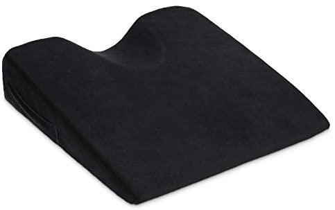 Car Seat Wedge Cushion Memory Foam Seat Cushion for Car Driving Office Chairs Wheelchair to Relieve Pain