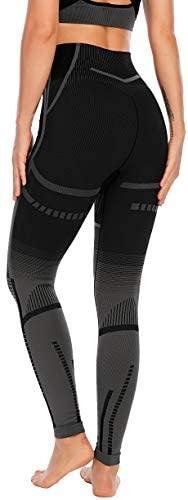 RUNNING GIRL High Waist Faded Seamless Yoga Leggings for Women, Tummy Control Compression GymAthletic Leggings