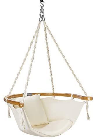 VIVOHOME Hanging Hammock Chair with Armrest, 440 lbs Capacity, Perfect for Indoor Outdoor, Patio, Deck, Yard, Garden