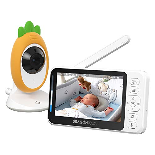"""Video Baby Monitor, Dragon Touch E40 4.3"""" HD LCD Display with Camera, Two-Way Audio, Invisible LED Night Vision, VOX Mode, Split Screen, 960ft Range, 8 Lullabies and Room Temperature Monitoring"""