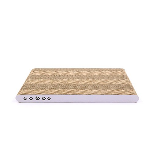 Coching Cat Scratcher Cardboard Scratch Pad with Unique Two Different Scratch Textures Design Durable Scratching Pad Reversible