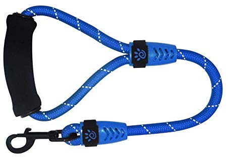 """DOCO 20"""" Reflective Rope Dog Leash with Foam Handle - Easy Grip, Quick Locking Snap for Dog Collar or Harness"""
