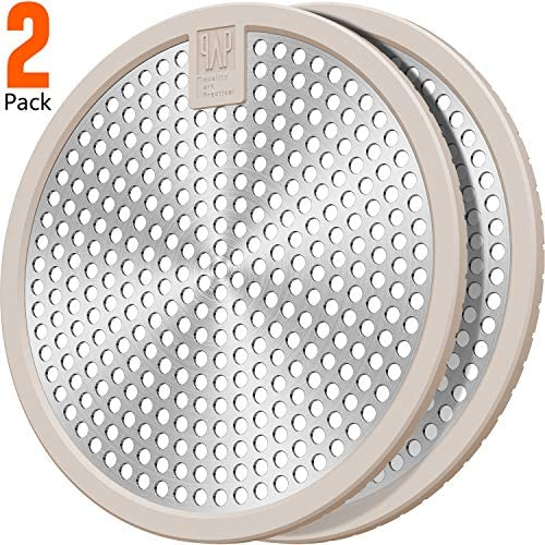 2Pack Stainless Steel Bathtub Drain Hair Stopper Shower hair catcher Drain cover 4.5inch Large size Suit for Bathroom Bathtub and Kitchen Easy Clean(Brown+Brown)