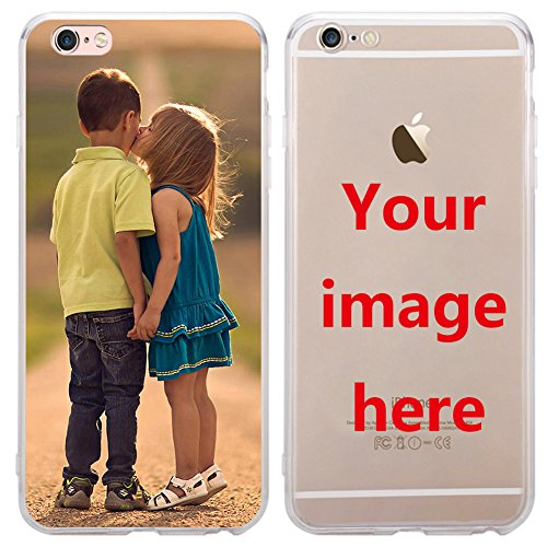 Custom Phone Case for iPhone 7 Plus, Personalized Photo Phone Case , Soft Protective TPU Bumper, Customized Cover Add Image Painted Print Text Logo Picture