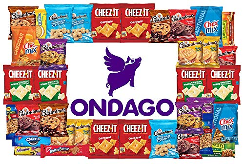 Ondago Snack Pack - Single Serve Assortment Care Package Variety Bundle 40 pack