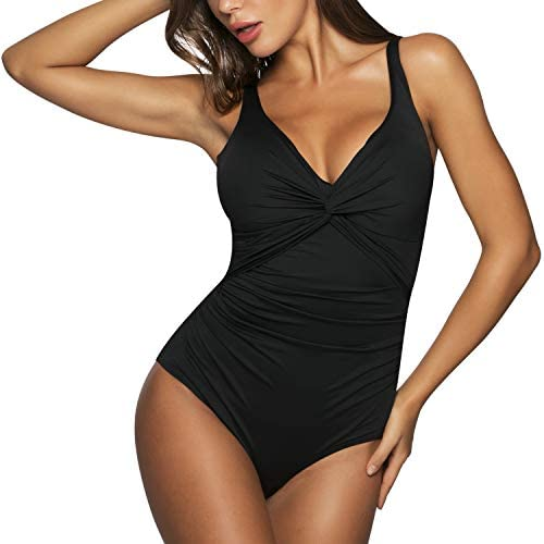 WIN.MAX Womens One Piece Swimsuits Tummy Control Swimwear Push up Ruched Monokini Bathing Suits