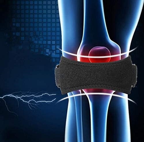 Knee Strap Support Patella Stabilizer for Joint Pain Relief - Arthritis, ACL, Running, Basketball, Meniscus Tear, Sports, Athletic! Knee Strap for Riding, Yoga and Squats